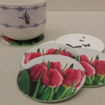 """Podkładki """"Motyle i tulipany"""""""