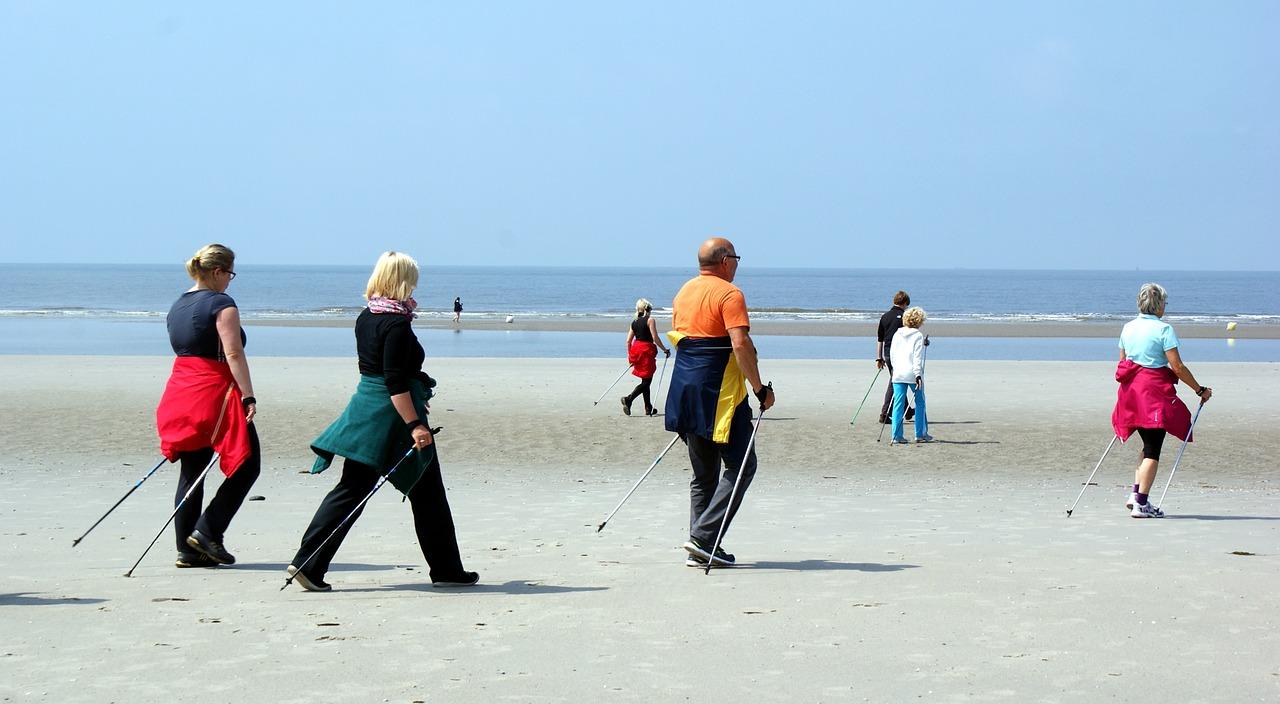 Nordic walking na plaży