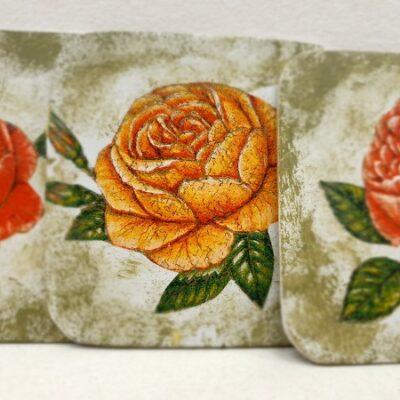 "Podkładki pod kubek "" herbaciane róże vintage"""