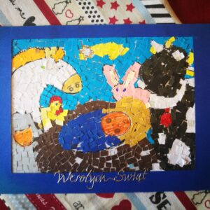 """Świąteczna Kartka """"Mozaika"""""""