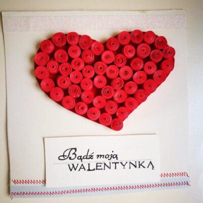 Kartka Walentynkowa- Czerwone serce