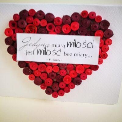 Kartka Walentynkowa- Serce dla Ciebie